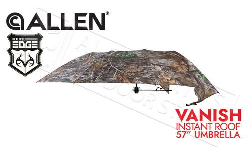 "Allen Vanish Instant Roof Treestand Umbrella 57"" Width in Realtree Edge Camo #5309"