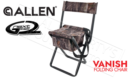 Allen Vanish Folding Stool with Back in Next G2 Camo #5854