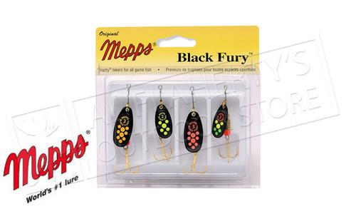 Mepps Kit - Black Fury 4-Pack, Size 2-3 #4-BF