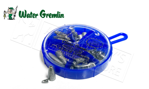 Water Gremlin Low Profile Slip Sinker Selector, 49 Pieces, Mixed Sizes #12SL