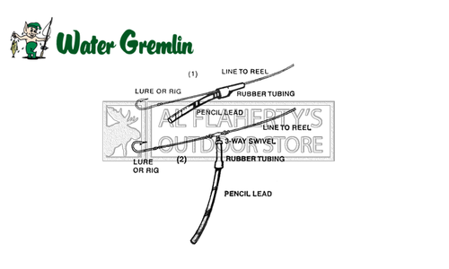 "Water Gremlin Pencil Lead Sinkers, 1/2 lb. Bags with 4"" Rubber Tube Included 3/16"" Diameter #PPL"