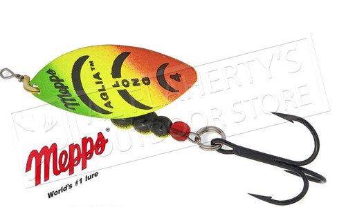Mepps Aglia Long Spinners, Inline, Plain Treble, Size 1, 1/6 oz. #AL1