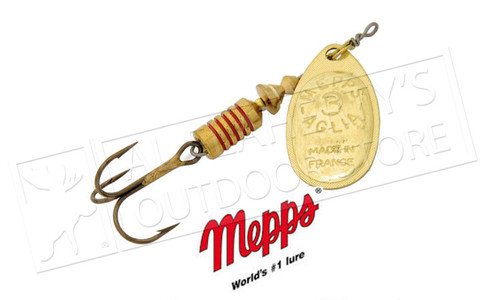 Mepps Aglia Spinners, Inline, Plain Treble, Size 0, 1/12 oz. #B0