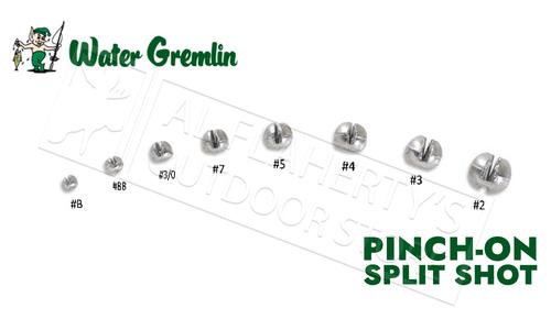Water Gremlin Round Split Shot, Zip Lip Packs, Sizes B to 2 #735