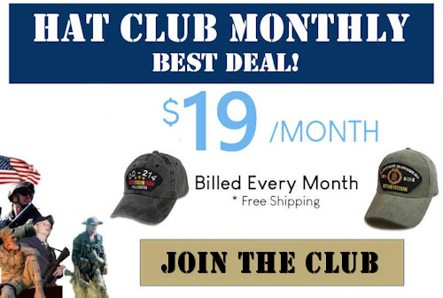 text box with monthly hat club 19 free shipping