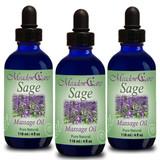 MeadowCare SAGE Massage Oil 4oz 3-Pack