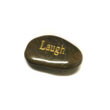 Engraved Inspirational River Stone - LAUGH