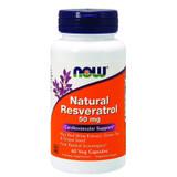 NOW Natural Resveratrol 50mg 60 Veg Capsules