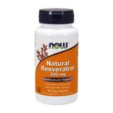 NOW Natural Resveratrol 200 mg 60 Veg Capsules