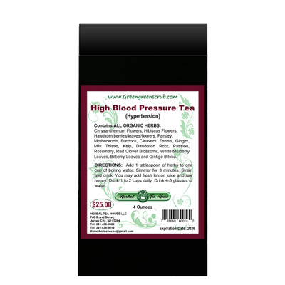 High Blood Pressure Tea 4oz by The Herbal Tea House