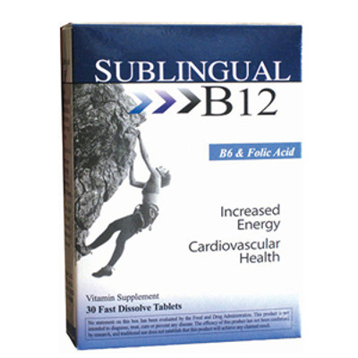 Sublingual B12 with Vitamin B6 & Folic Acid