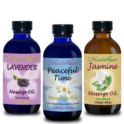 MeadowCare Massage Oil Trio