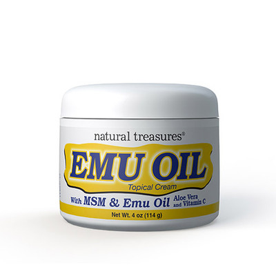 Natural Treasures Emu Oil Topical Cream 4 oz (14 g)