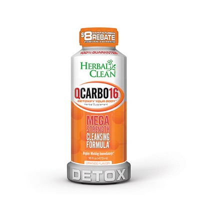 Herbal Clean QCarbo16 Mega Strength with Eliminex Orange 16 fl oz (473 ml)