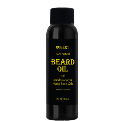 Robert 100% Natural Beard Oil with Sandalwood and Hemp Seed Oil 4oz