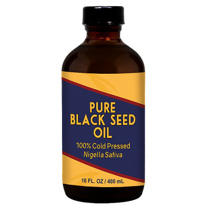 Herbal Tea House 100% Pure Cold Pressed BLACK SEED OIL 16oz