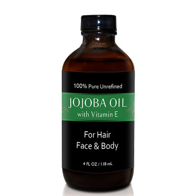 Herbal Tea House 100% Pure Unrefined JOJOBA OIL with VIAMIN E 4oz
