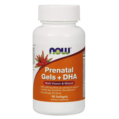 NOW Prenatal Multivitamins with DHA 90 Softgels