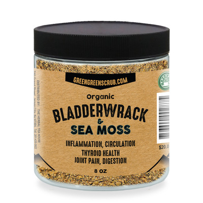 Organic Bladderwrack Powder and Sea Moss Powder 8oz