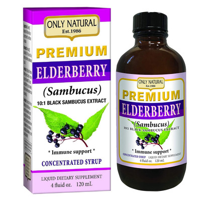 Only Natural's Premium Elderberry Immune Support Syrup 4 Fl. Oz