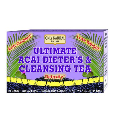 Only Natural Ultimate Acai Diet & Cleansing Tea, 24 Bags