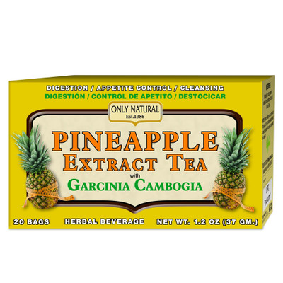 Only Natural Pineapple Tea with Garcinia Cambogia 20 Bags