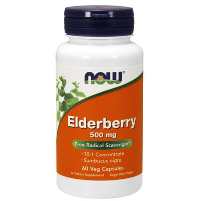 NOW Elderberry 500 mg Veg Capsules