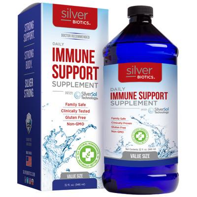 Silver Biotics Daily Immune Support Supplement 32oz