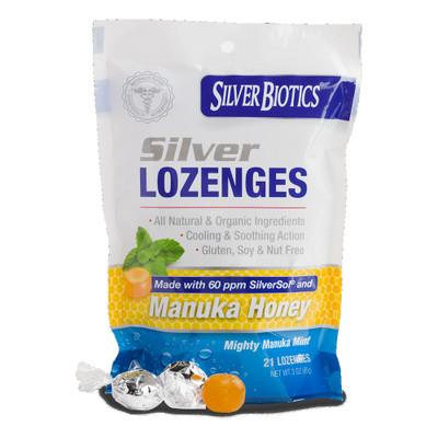 Silver Biotics Silver Lozenges with Manuka Honey (21 Lozenges)