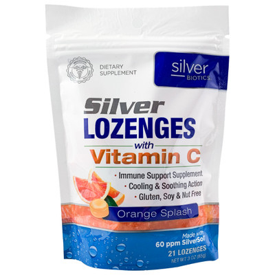Silver Biotics Silver Lozenges with Vitamin C (21 Lozenges)