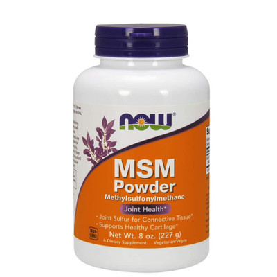 NOW MSM Powder ((Methylsulfonylmethane) 8oz