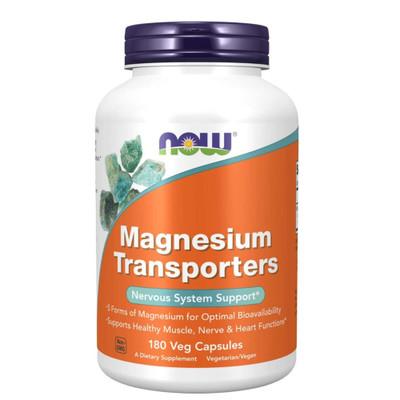 NOW Magnesium Transporters 180 Veg Capsules