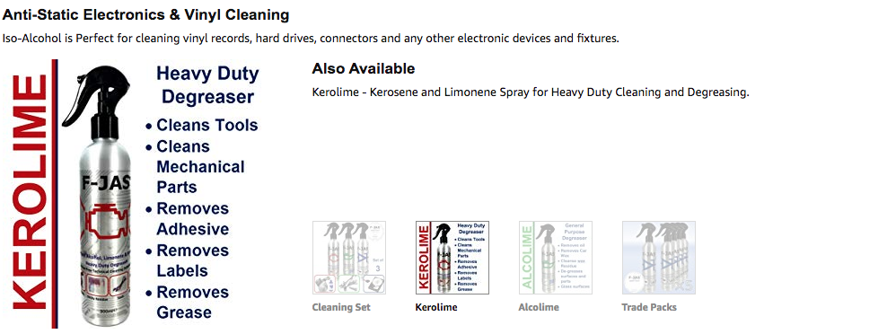 Also Available Kerolime - Kerosene and Limonene Spray for Heavy Duty Cleaning and Degreasing.