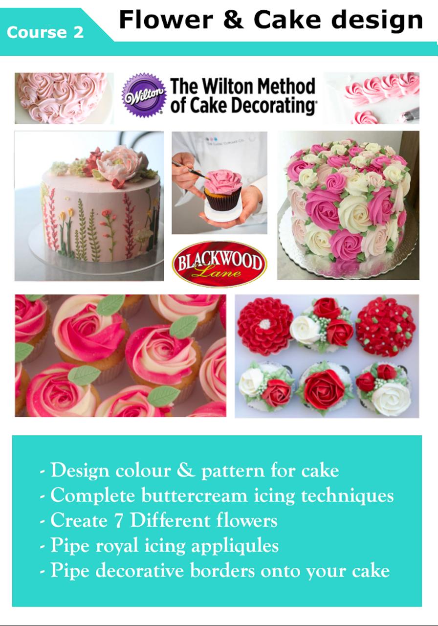 Wilton Flower And Cake Design Course Blackwood Lane