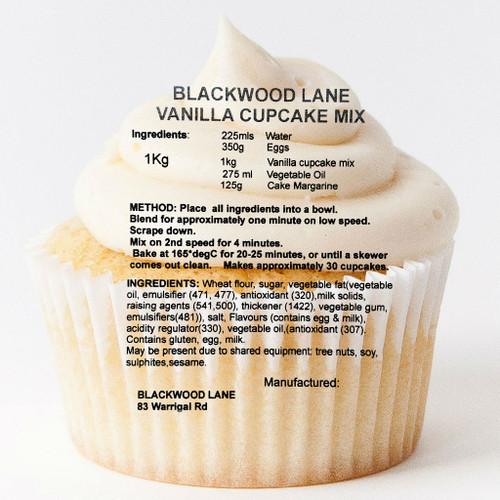 Vanilla Cupcake Mix (1kg)