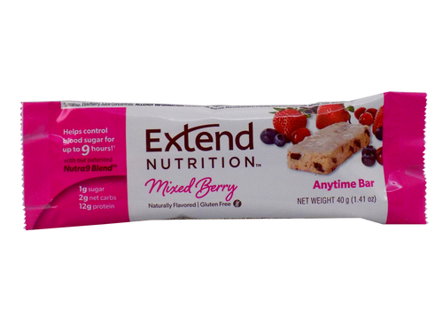 Extend Bar - Mixed Berry Delight, or Chocolate Delight Extend Nutrition Anytime Bar