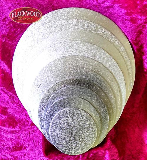 Blackwood Lane - Silver Cardboard Cake Base (Round)