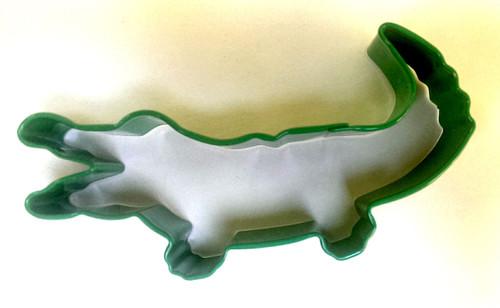Medium Crocodile Cookie Cutter (Black Polyresin Coated) 10.16cm