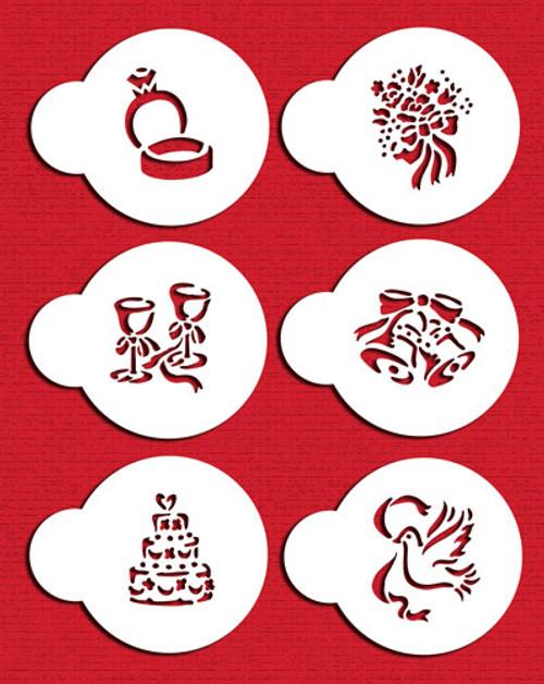 Designer Stencils -  Wedding Candy/Cookie Tops (5 cm)