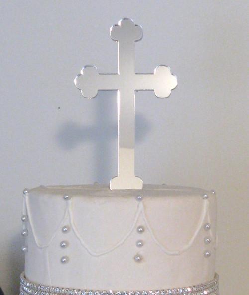 BlackWoodLane - Cross Cake Topper (Silver)