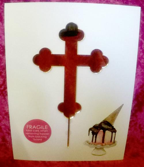 BlackWood Lane - Cross Cake Topper (Gold)