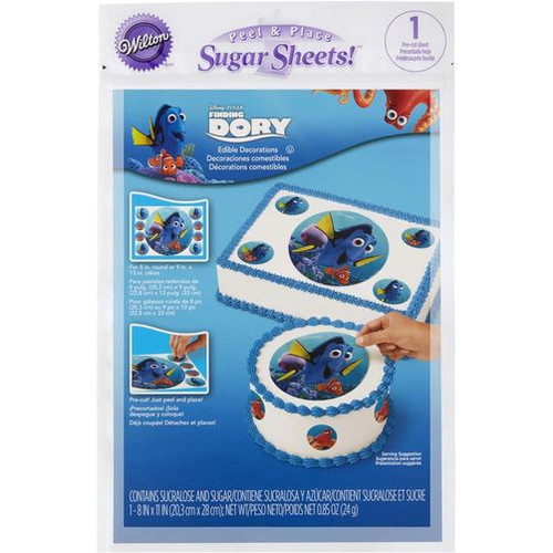 """Wilton - Peel And Place Sugar Sheets Disney Pixar """"Finding Dory"""""""