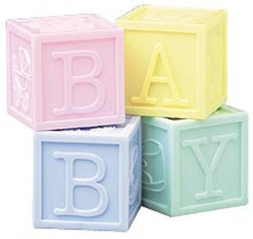 "Wilton - ""Baby Blocks"" Party Favours"