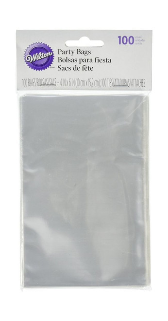 Wilton - 100 pieces clear party bags