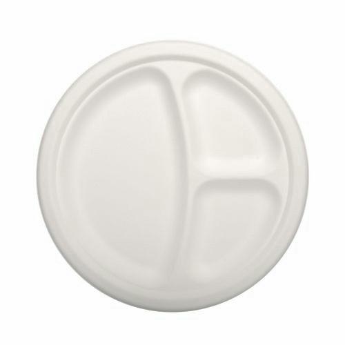 Papstar - Pure Paper Plates 3 compartment 23cm (12pcs)