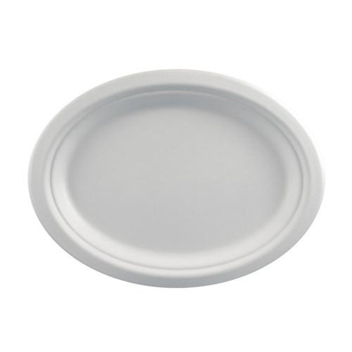 Papstar - Pure Plates Oval 26x20cm (12pcs)