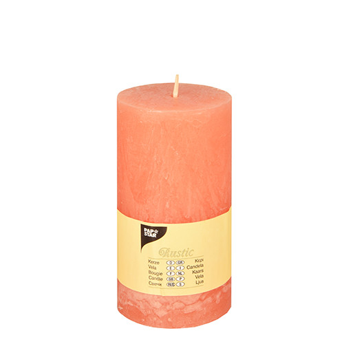 Papstar - Cylinder Candles Rustic 130mm Assorted
