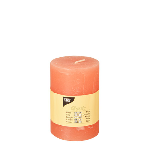 Papstar - Cylinder Candles Rustic 100mm Assorted