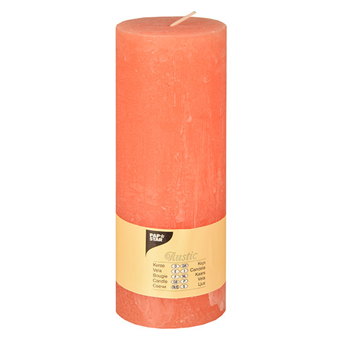 Papstar - Cylinder Candles Rustic 190mm Assorted