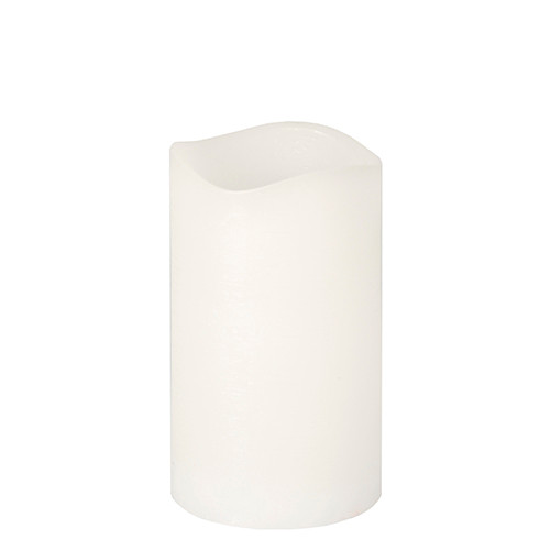 Papstar - Rustic LED Pillar 125mm White